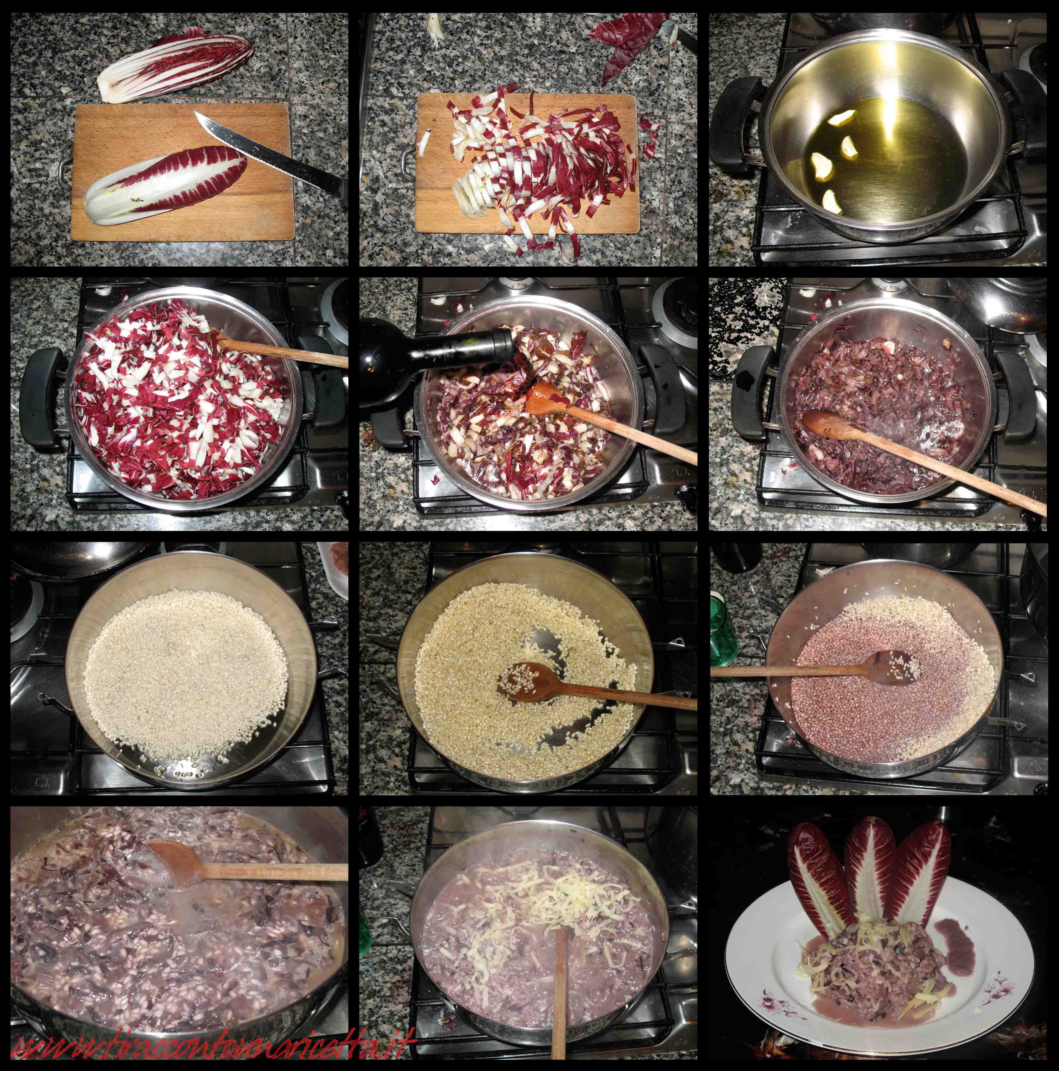 Risotto with radicchio and caciotta of sheep