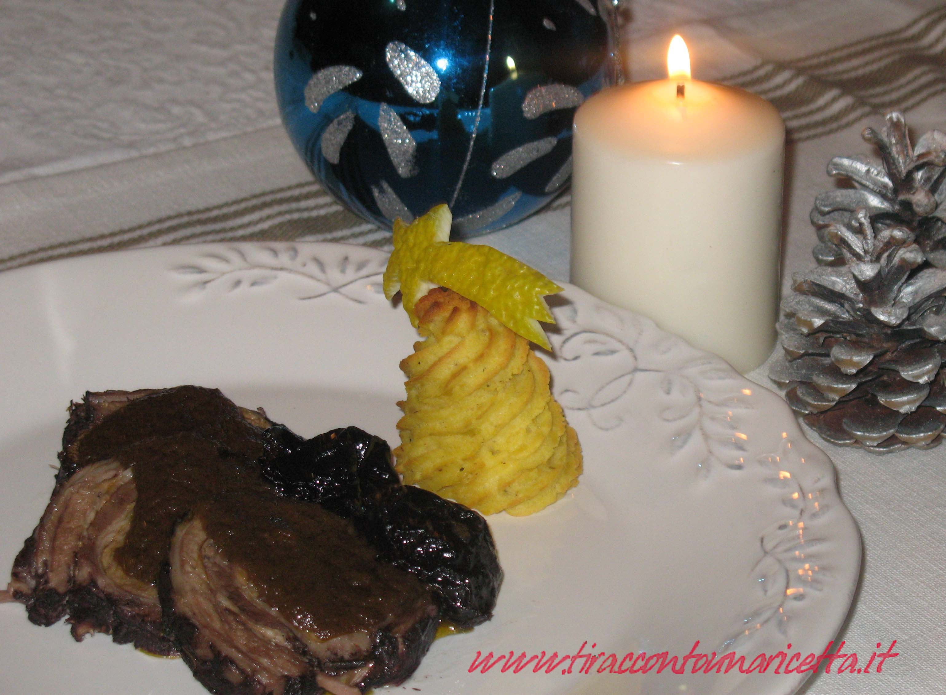 Lamb braised in Barolo wine and prunes