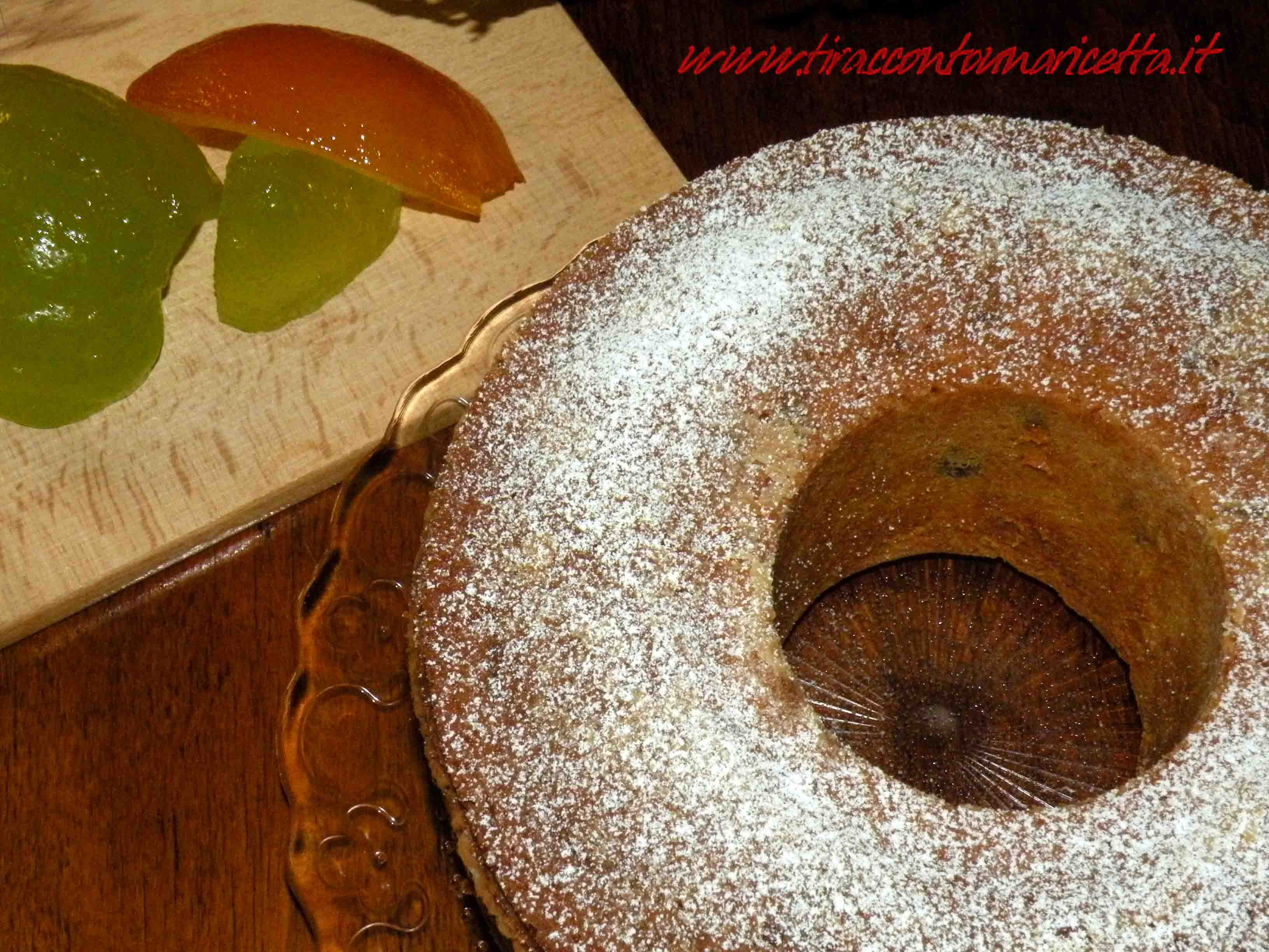 Ciambellone with pine nuts and candied fruit