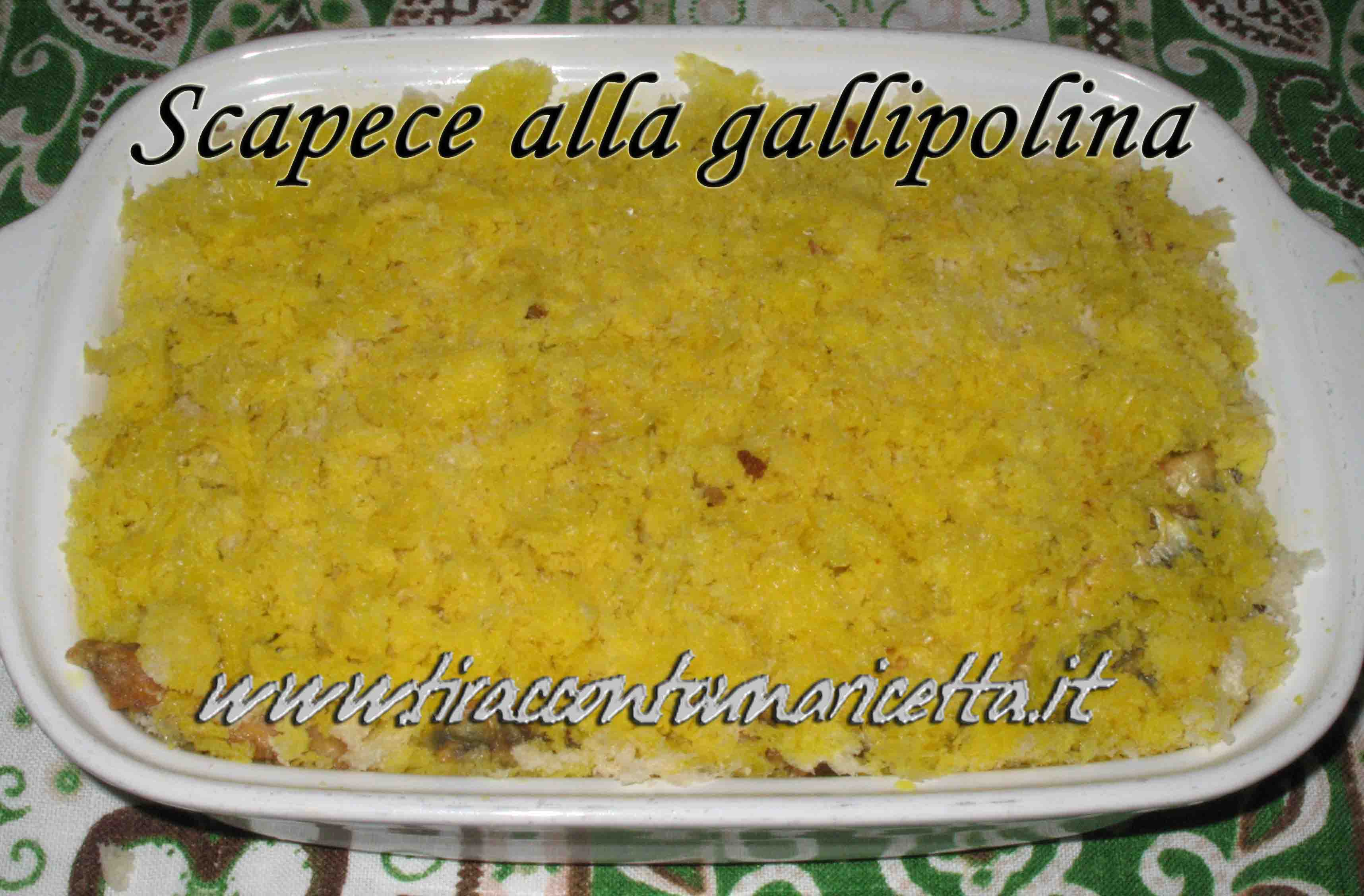 Scapece of anchovies alla gallipolina (from Gallipoli)