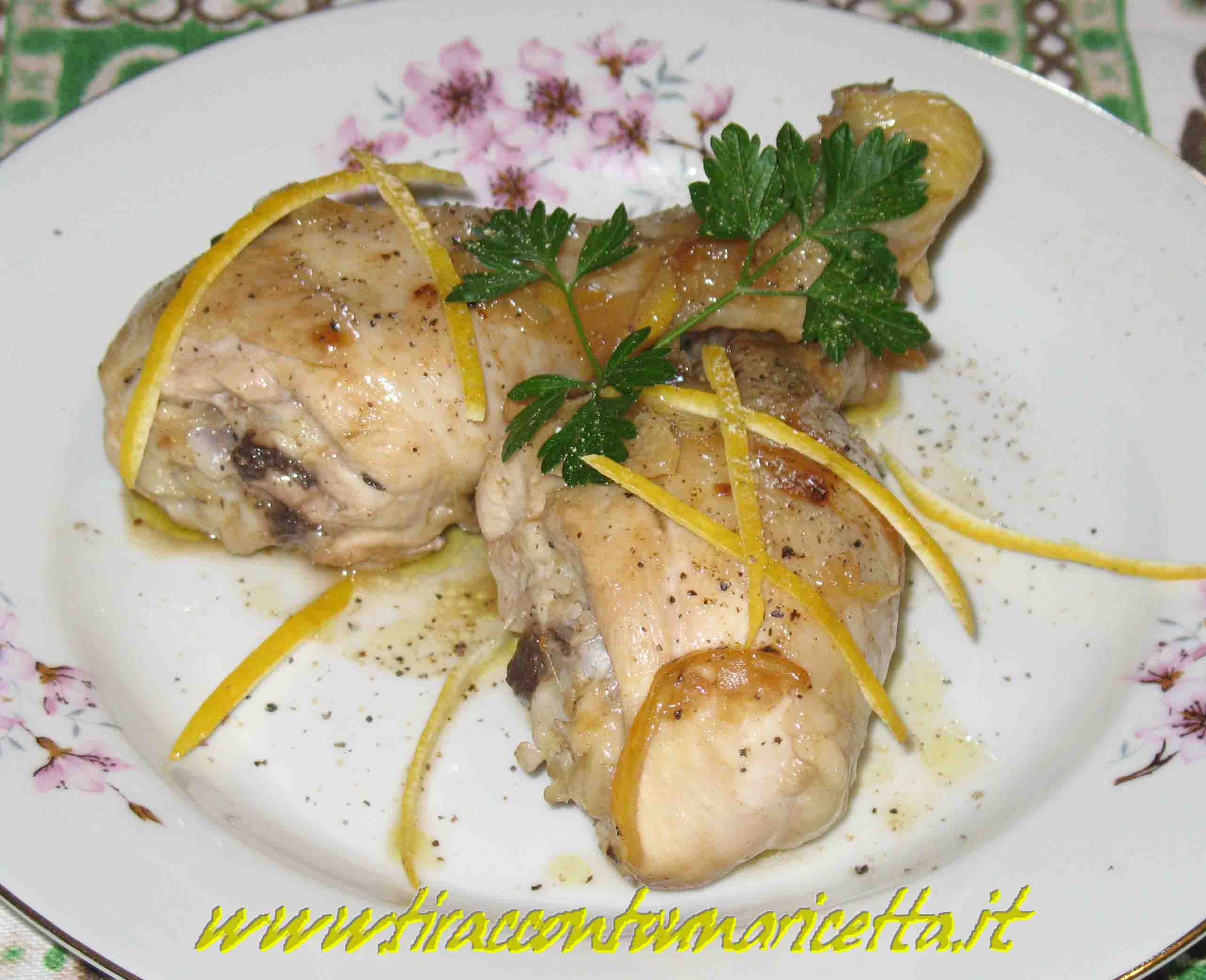 Chicken with lemon and ginger