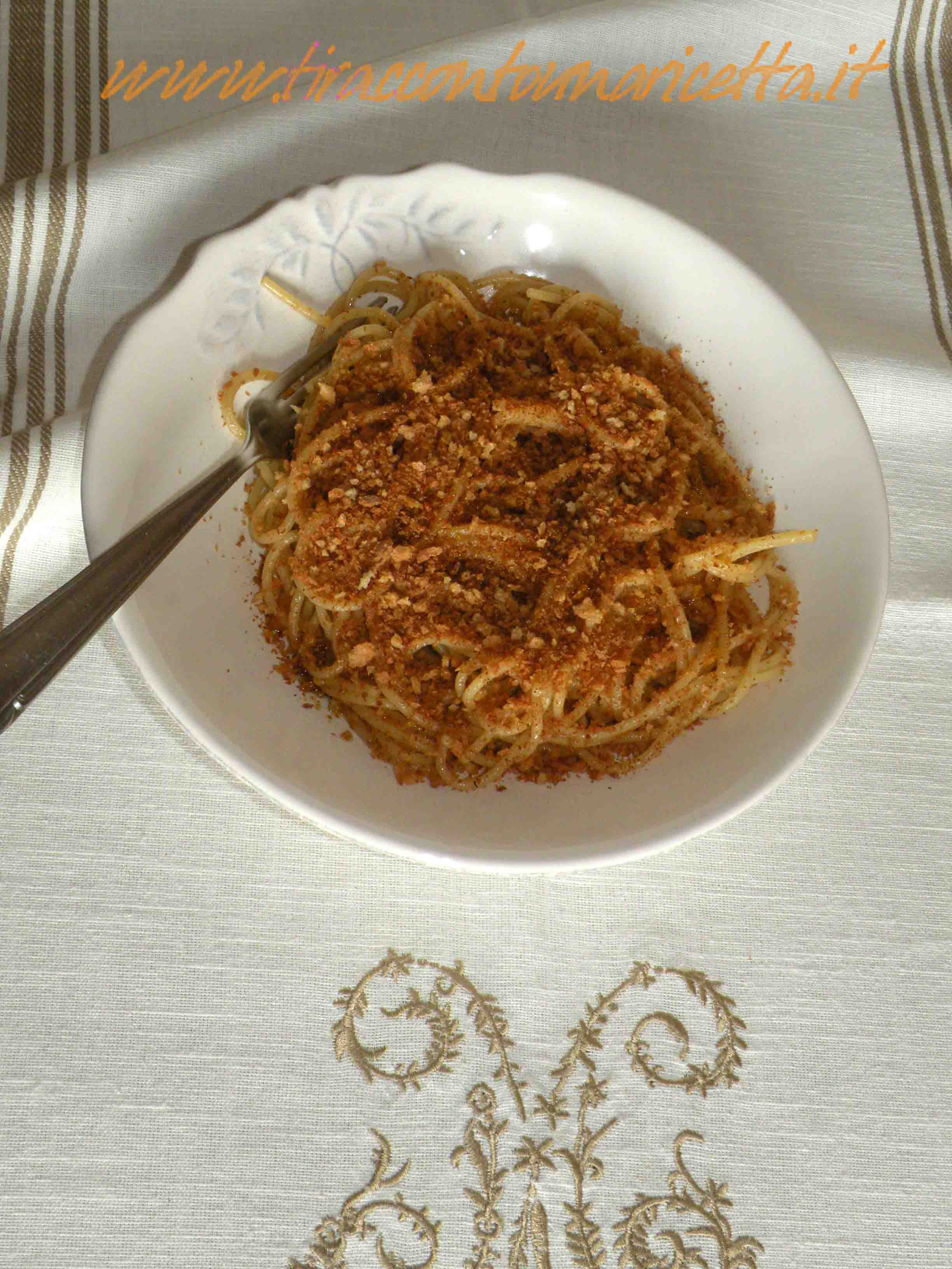 Pasta with breadcrumbs (from Sicily)