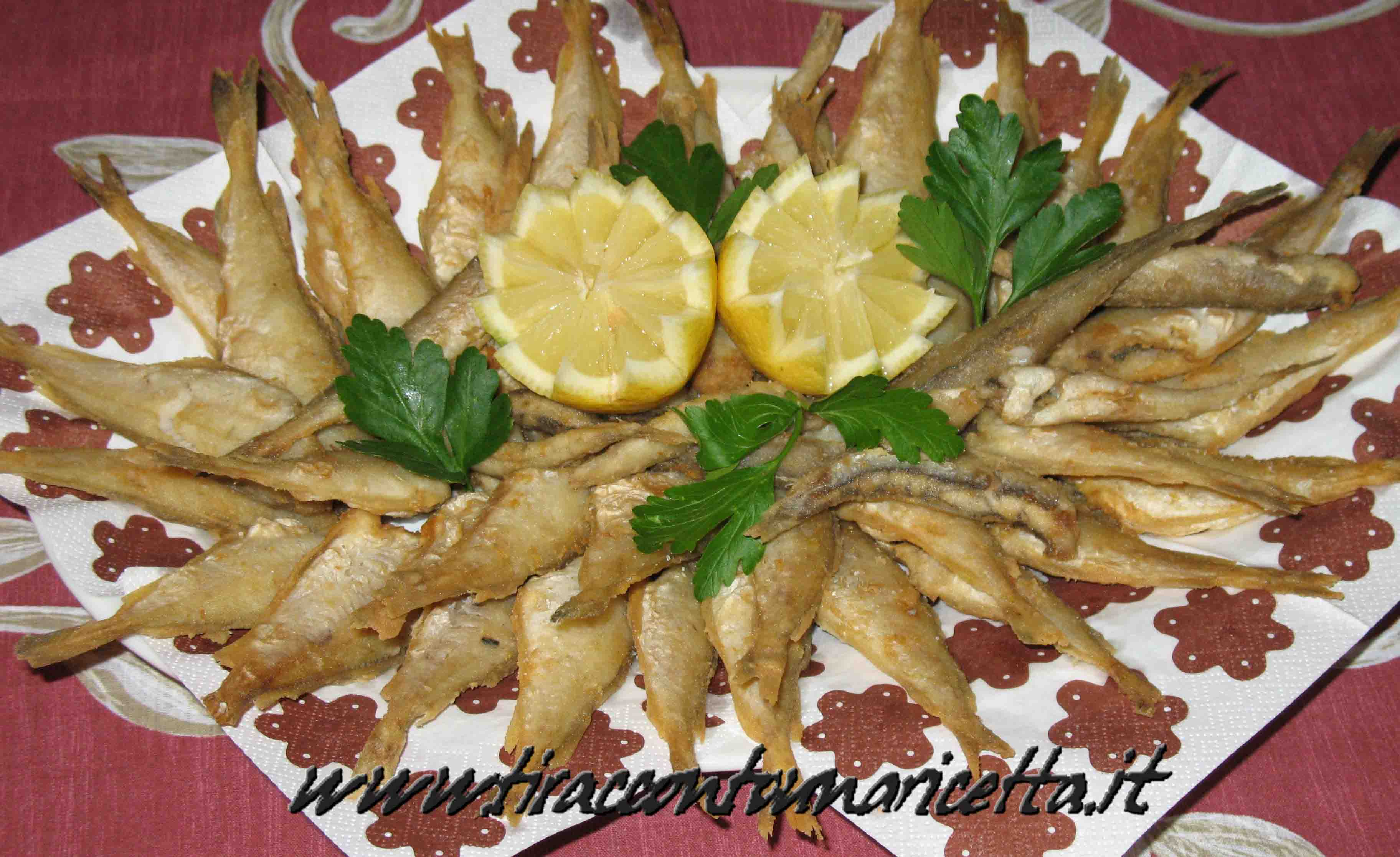Fried small Mediterranean fish (frittura di paranza)