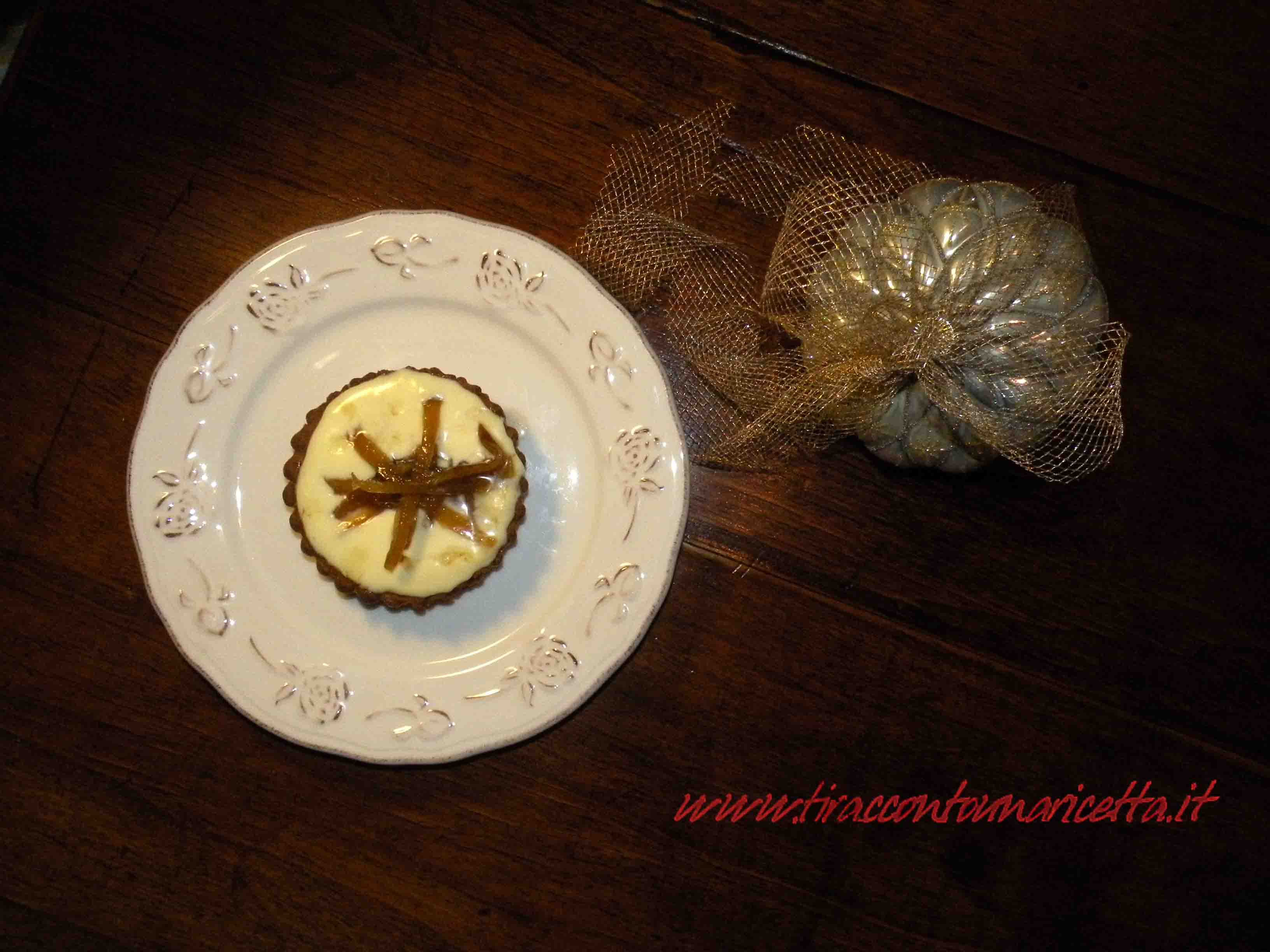 Tartlets of buckwheat with cream and candied ginger for celiacs