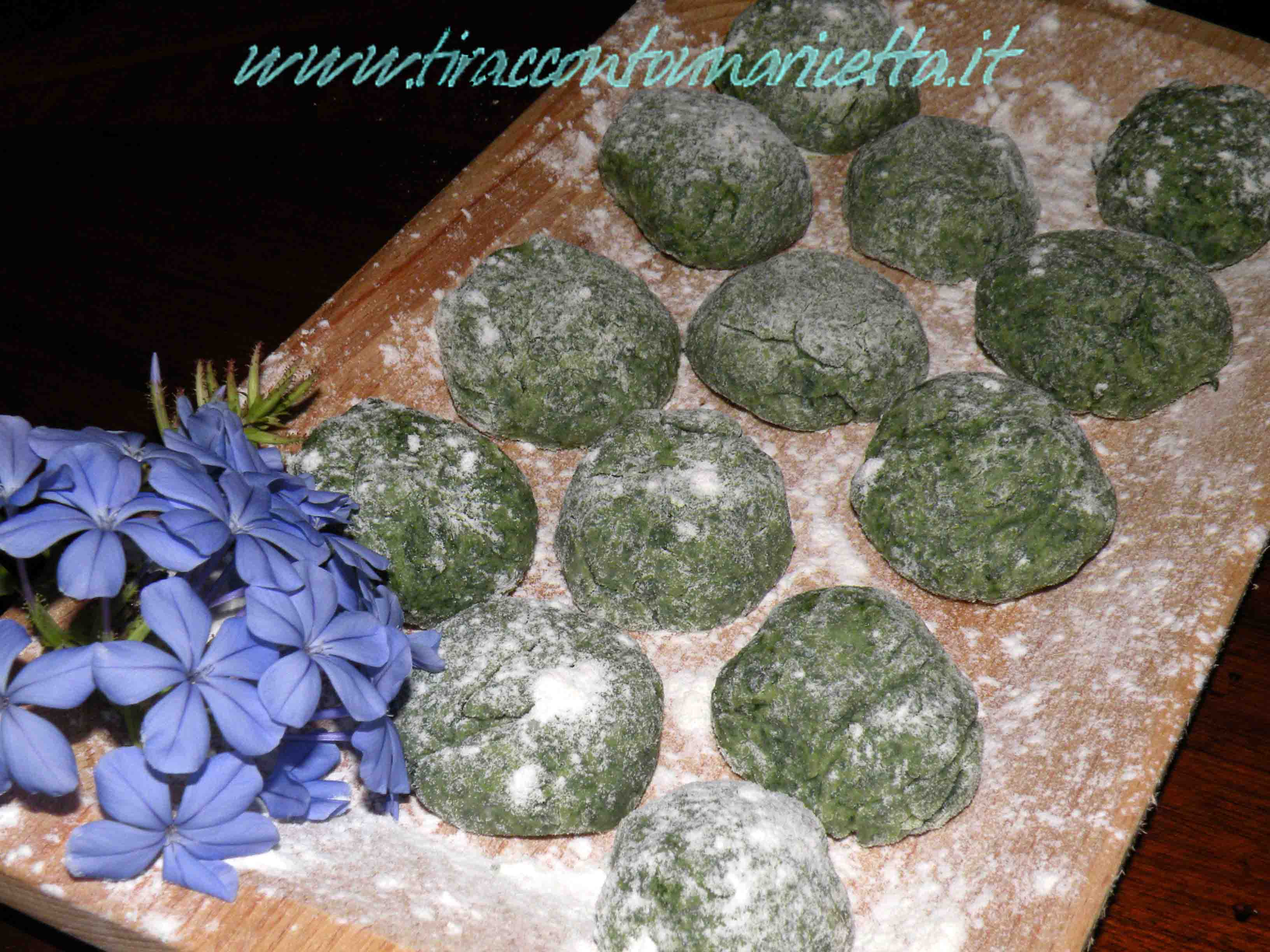 Tuscan dumplings with spinach and ricotta  (the gnudi)