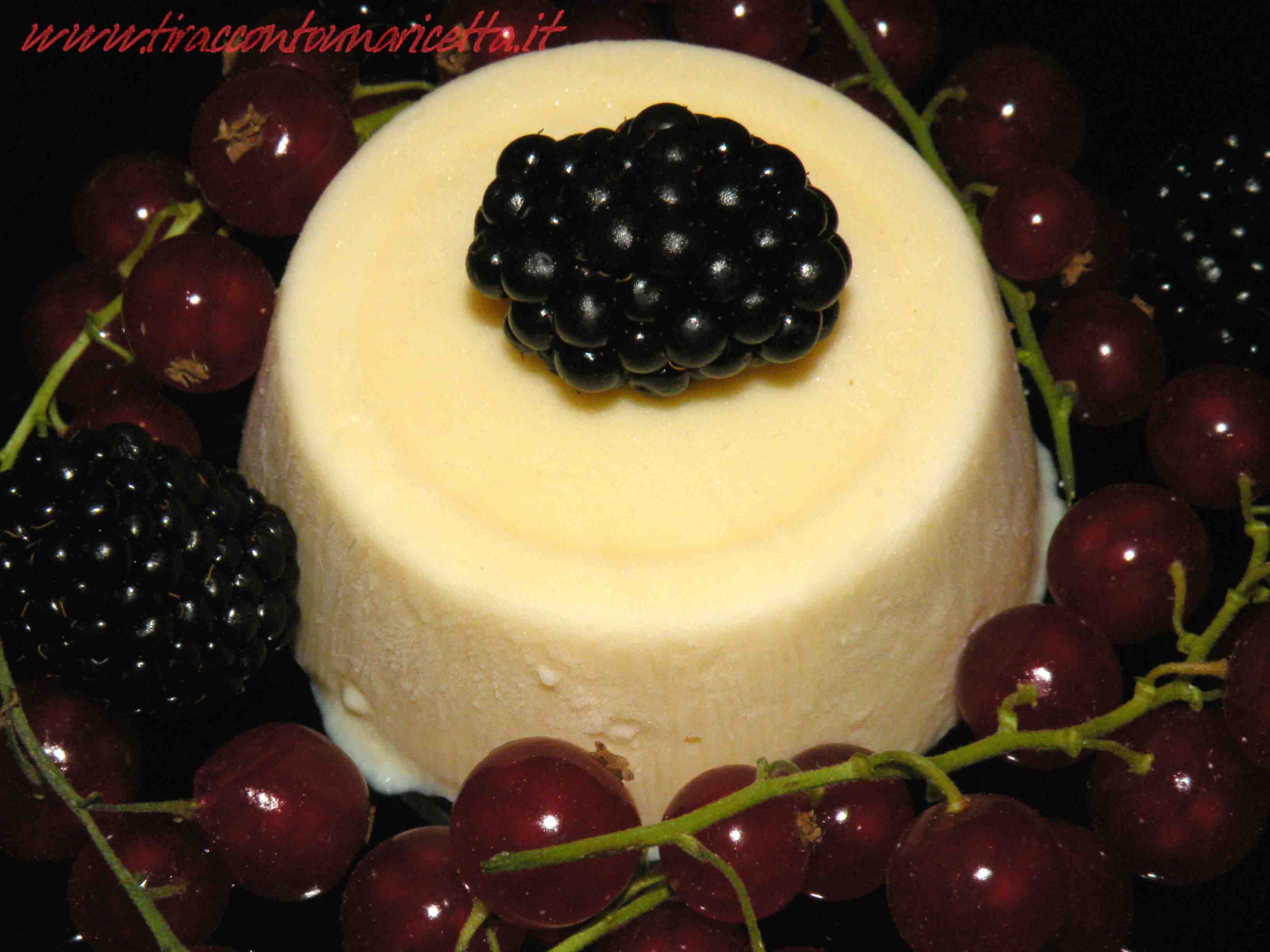 Semifreddo with ricotta cheese