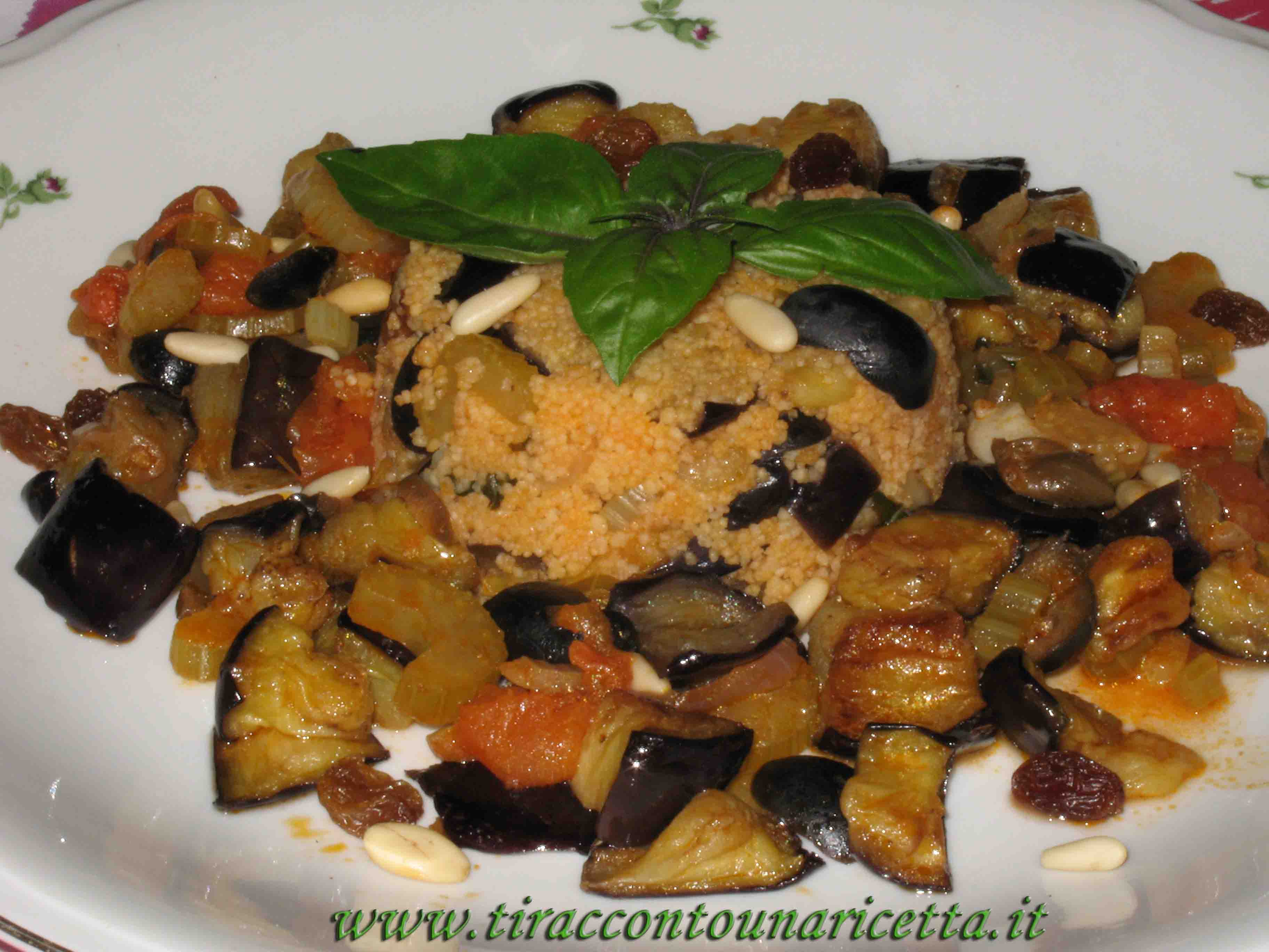 Couscous with Sicilian caponata