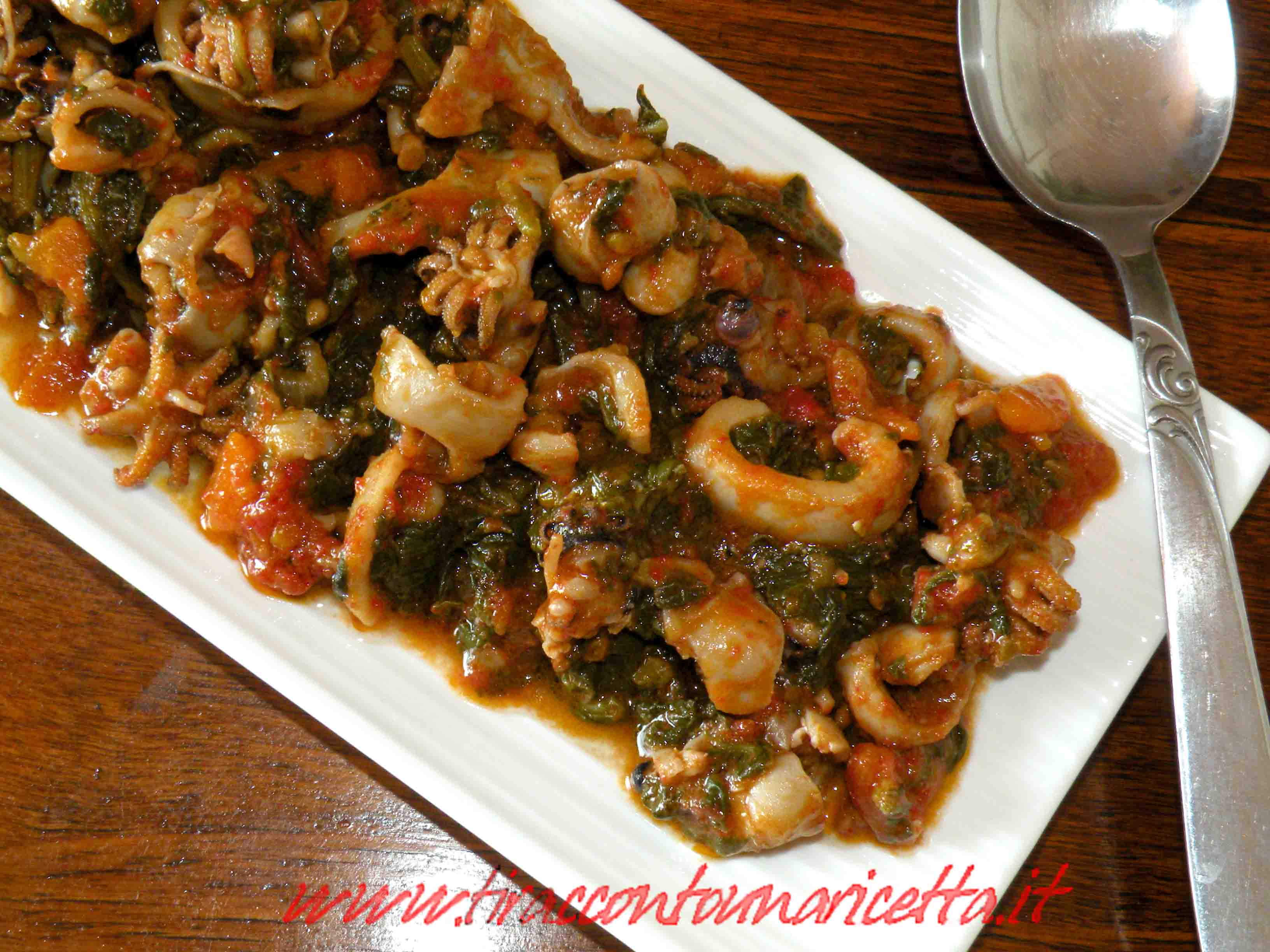 Cuttlefish with chard in zimino